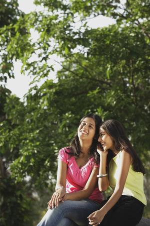 giggling: Teen girls giggling