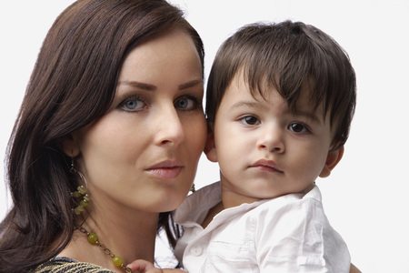 european ethnicity: mother holding baby