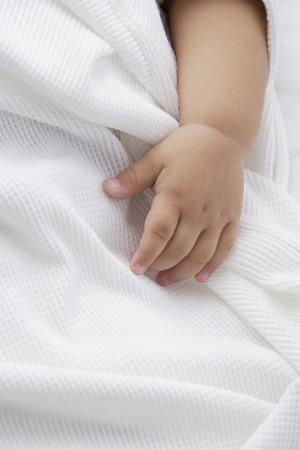 babys hand Stock Photo
