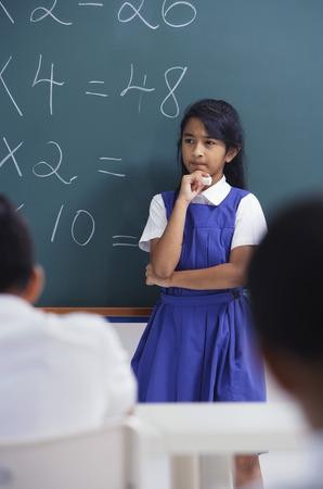 librarians: girl at chalkboard LANG_EVOIMAGES