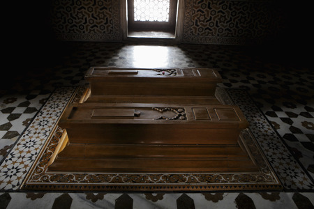 Tombs of Itmad-Ud-Daulah and his wife. Agra, India