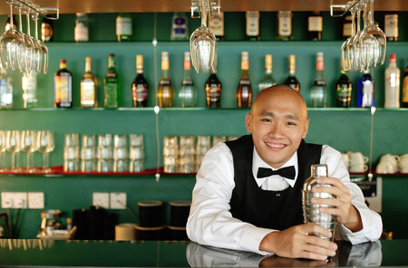 cocktail mixer: Bartender, portrait