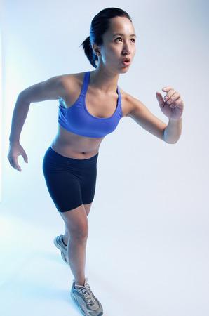 vietnamese ethnicity: Woman in running position