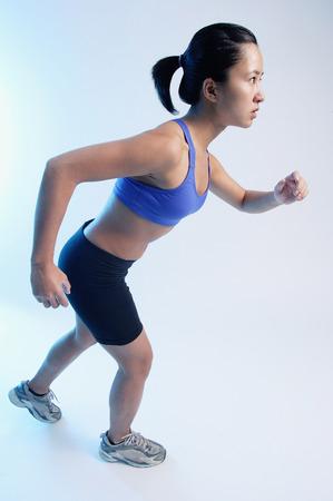 vietnamese ethnicity: Woman running