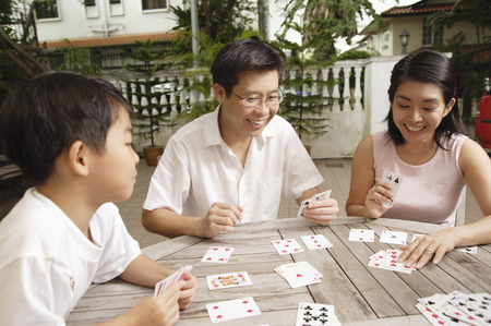 happy families: Family playing cards