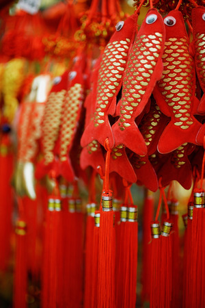 Fish decorations for Chinese New Year Imagens