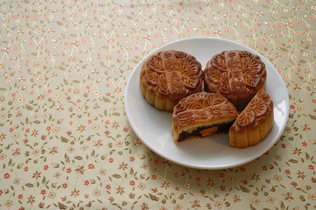 Still life of mooncakes