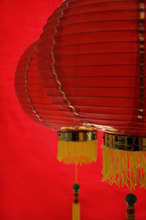 Still life of red lanterns Stock Photo