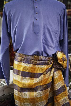 Closeup of baju melayu, traditional Malay attire for men. Imagens - 69407440