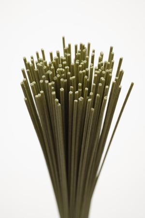 bunch of soba noodle closeup