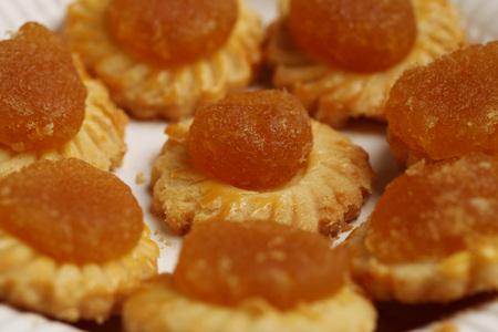 Pineapple tarts on plate.
