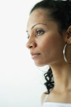 woman profile: Woman looking at away, profile