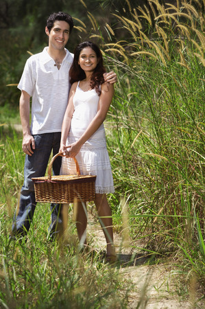 Young couple going for a picnic Stock Photo