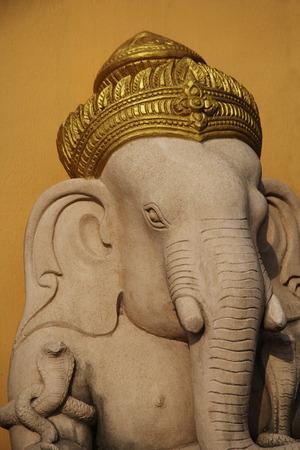 Elephant God, Ganesh with gold turban. Imagens