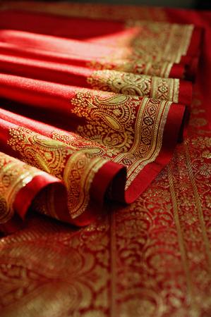 Hem of Indian sari
