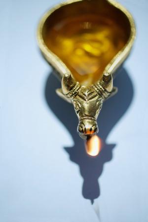 Still life of oil lamp