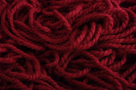 Red Yarn Stok Fotoğraf