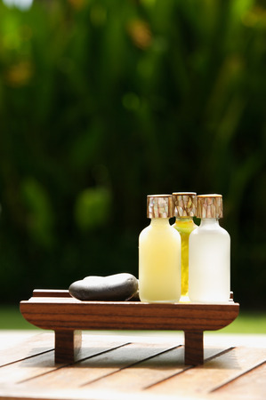 Oils used in natural spa treatments