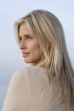 woman profile: Profile portrait of woman LANG_EVOIMAGES
