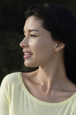 woman profile: profile of woman wearing yellow shirt
