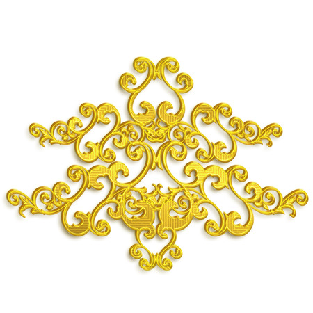 and gold: gold flower Stock Photo