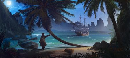 Pirate Stockfoto