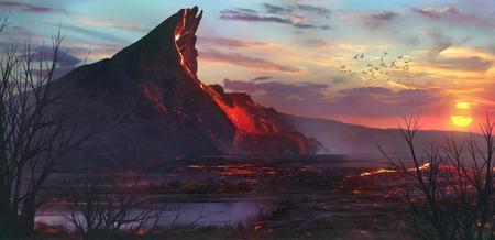 火山 写真素材