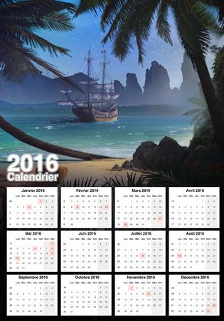 morning: Calendar Stock Photo