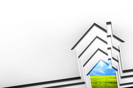 consuming: house eco Stock Photo