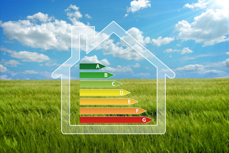 electric power: house eco Stock Photo