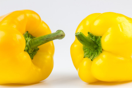 healt: Fresh vegetables yellow Peppers Stock Photo