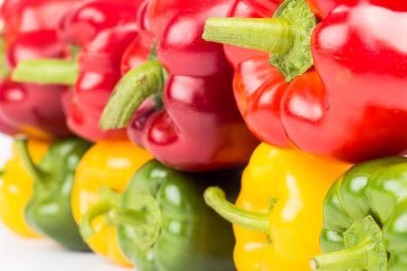 Fresh vegetables Colorful peppers Stock Photo