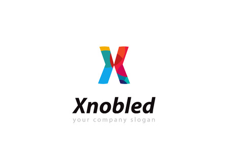 letter x: letter X Template for your company Illustration
