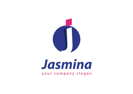 letter J Template for your company Ilustrace