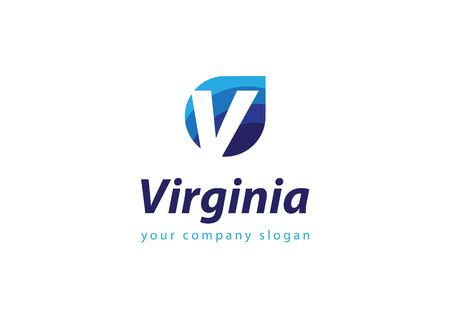 letter V Template for your company