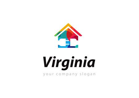 Vibrant multicolored real estate design