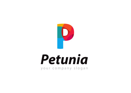letter P Template for your company Ilustrace