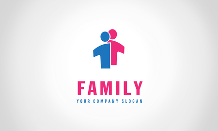 family Template for your company Illustration