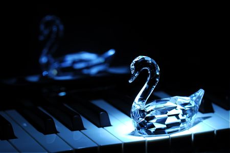 Swan &  Piano - Blue Moon River - RAW  with High Detail Photography