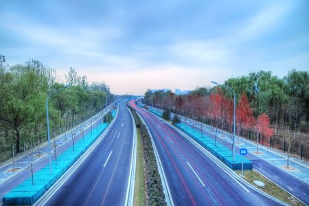 HDR HighWay in Autumn - High Dynamic Range & Long Exposal Photography photo