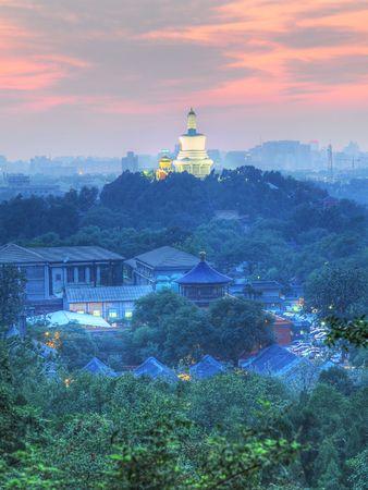 hdr background: Beihai Royal Park in Beijing - HDR(High-Dynamic Range) Photo