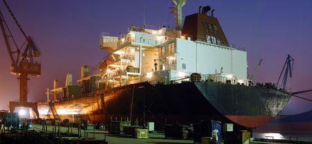 docked: Grandes buques Acoplado Foto de archivo