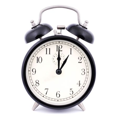 1: 00 High Detail Traditional Alarm Clock Stock Photo - 4884532