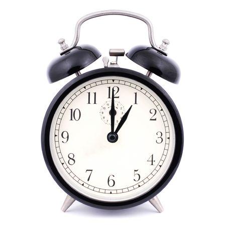 1: 00 High Detail Traditional Alarm Clock Stock Photo - 4884532