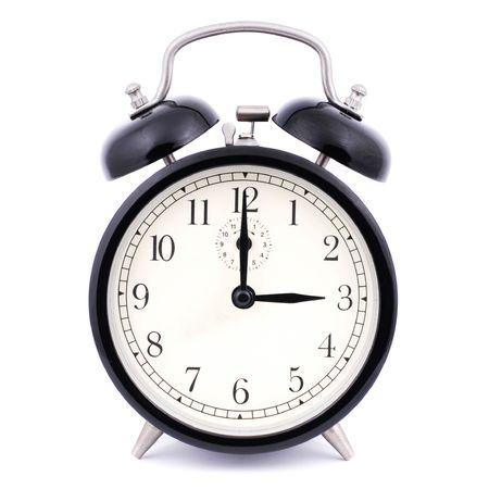 warning indicator: 3: 00 High Detail Traditional Alarm Clock Stock Photo