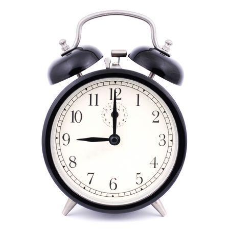 despertarse: 9: 00 Alto Detalle Despertador tradicional