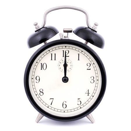 12: 00 High Detail Traditional Alarm Clock Stock Photo - 4884170