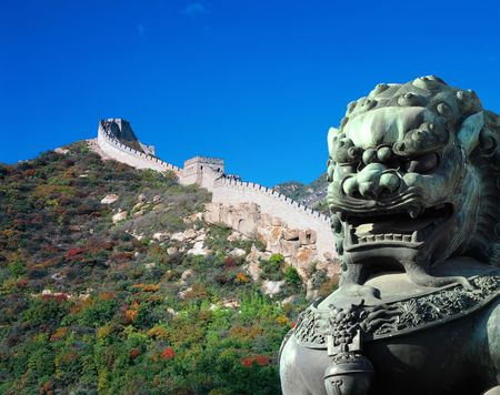 Great Wall and Royal Bronze Lion photo
