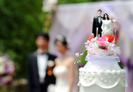 wedding party: Wedding Cake Stock Photo