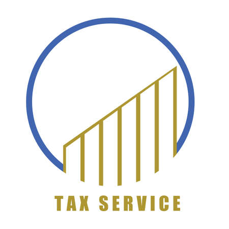 Tax Service vector logo and symbol design